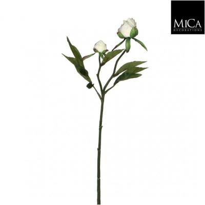 """Floare artificiala """"Peony"""" White, L46cm, 1 buc, Flori si coronite artificiale ,"""