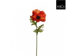 "Floare artificiala ""Poppy"" Orange, L57cm, 1 buc"