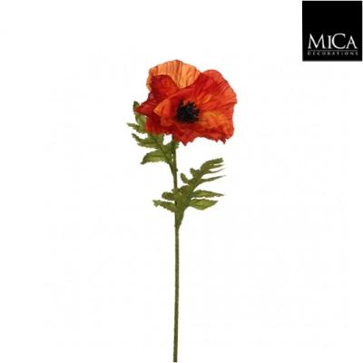 """Floare artificiala """"Poppy"""" Orange, L57cm, 1 buc, Flori si coronite artificiale ,"""