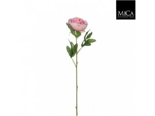 """Floare artificiala """"Peony"""" Pink L63cm, 1 buc"""