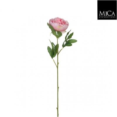 "Floare artificiala ""Peony"" Pink L63cm, 1 buc, Flori si coronite artificiale ,"