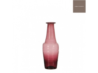 "Vaza din sticla ""Caja"" Purple, H18.5xD6.5cm, 1 buc"