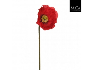 "Floare artificiala ""Poppy"" Red, L66cm, D15cm, 1 buc"
