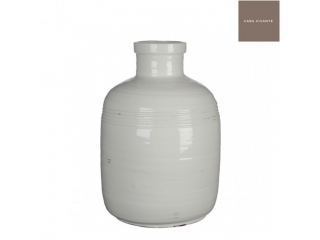 "Vaza rotunda ""Bottle Abbey"" White, H45 D30, 1 buc"