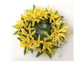 "Coronita ""Easter philox ribbon"" (L) D19cm Yellow, 1 buc"