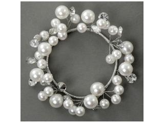 "Coronita ""Perl"", (L),  White/Silver, 1 buc."