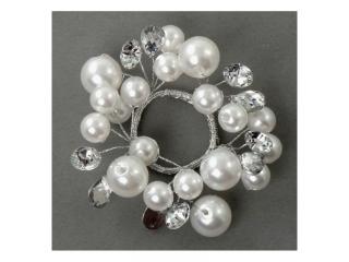 """Coronita """"Perl"""", (S),  White/Silver, 1 buc."""