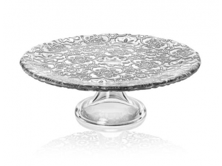 """""""Arabesque"""" Platou p/u torta cu picior, Silver Leaf, 26 cm, 1 buc"""
