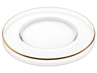 """Avenue"" Platou Clear Gold, 32 cm, 1 pcs"