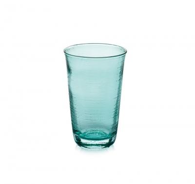 """Denim"" Set 6 pahare pentru apa, Turquoise, 380 ml, 1 set, Pahare ,"