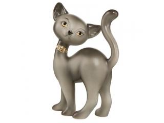 "Figurina Pisica ""Korat Kitty charming"", 20 cm, 1 buc"