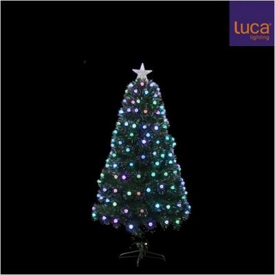 Brad cu 210 LED (multicolor), h180xd75cm, green, 1 buc, Brazi artificiali,