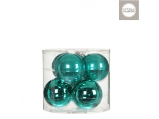 """Set globuri """"Ornament"""", Turquoise, D8cm, 6 pcs."""