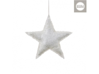 "Ornament ""Star"", l28*h28cm, White, 1 pcs"