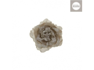 "Clama ""Rose"", d12cm, Grey, 1pcs"