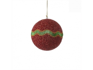 "Glob ""Ornament"", d15cm, Red, 1 pcs"