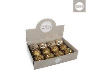 "Glob ""Ornament"", d8cm, Gold, Champagne, 1 pcs"