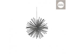 """Glob """"Ornament"""", d12cm, Silver, 1pcs"""