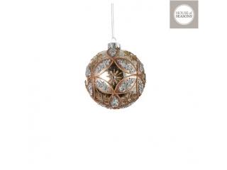 "Glob ""Ornament"", d10cm, Champagne, 1 pcs"