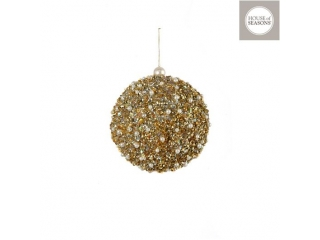 "Glob ""Ornament"", d12cm, Gold, 1pcs"
