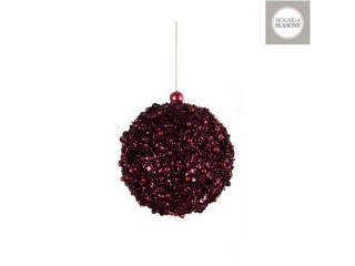"Glob ""Ornament"", d12cm, Purple, 1pcs"