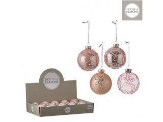 """Glob """"Ornament"""", d7cm, Pink, 1pcs"""