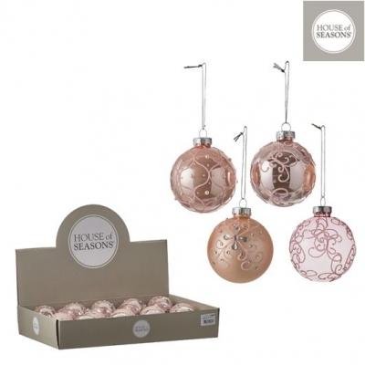 """Glob """"Ornament"""", d7cm, Pink, 1pcs, Decor,"""