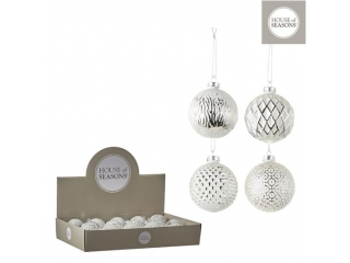 "Glob ""Ornament"" d7cm, White, 1pcs"