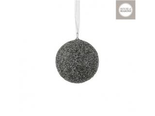 """Glob """"Ornament"""", d10cm, Silver, 1 pcs"""