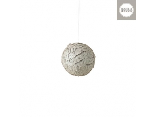 "Glob ""Ornament"" d10cm, Grey, 1pcs"