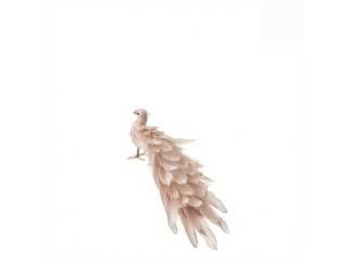 "Decor ""Paun"" pink, l30xw15xh14cm, 1 buc."