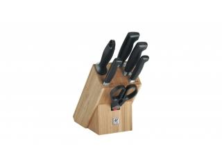 Set cutite inox cu suport din lemn, 7 pcs.