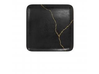 """Kintzoo Gold"", Platou patrat, 27 cm, 1 buc"
