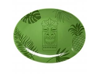"""""""Aztek GREEN"""" Platou  oval, 32 cm, 1 buc"""