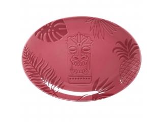 """""""Aztek PINK"""" Platou oval, 32 cm, 1 buc"""
