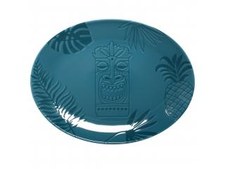 """""""Aztek TURQUOISE"""" Platou oval, 32 cm, 1 buc"""