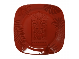 """Aztek RED"" Platou patrat, 14 cm, 1 buc"