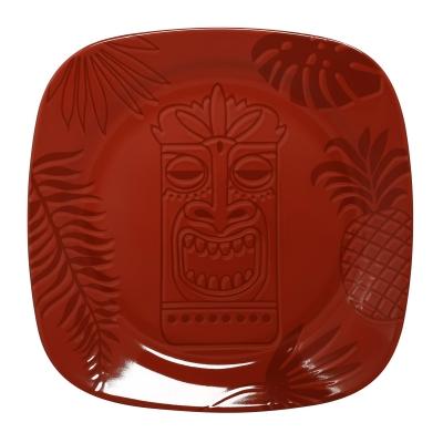 """""""Aztek RED"""" Platou patrat, 14 cm, 1 buc, AZTEK,"""