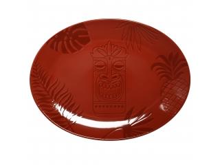 """Aztek RED"" Platou oval , 36 cm, 1 buc"
