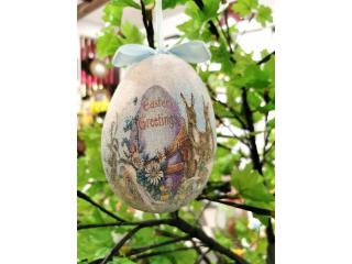 Easter greetings Decor oua de Paste, 6,5x10 cm,  1 pcs