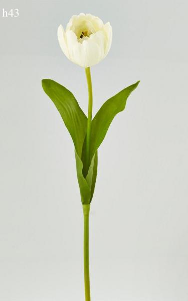 """Floare artificiala """"tulipano """" h43cm,white,1 buc., Flori artificiale,"""