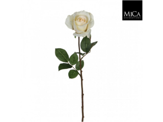 "Floare artificiala ""Rose velvet"" cream, 77cm, 1 buc"