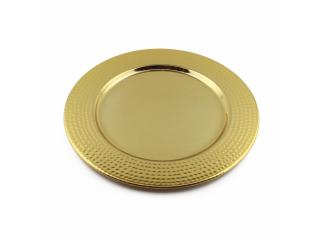 Platou din aluminiu, Gold, 35 cm, 1 buc