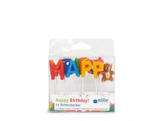 """Set lumânări """"Birthday"""" 14 bucăți"""