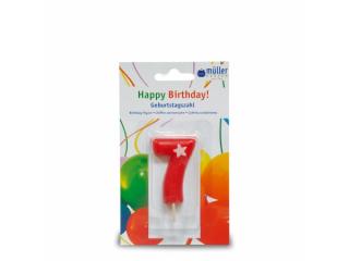 """Lumânare """"Birthday"""" cifra 7, 1 buc"""
