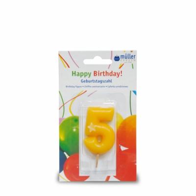 """Lumânare """"Birthday"""" cifra 5 , 1 buc, Holidays,"""