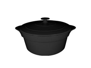 """""""Chef's Fusion"""" Oală cu capac, Black, 16 cm, 1 buc"""