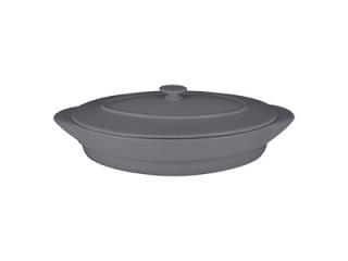 """""""Chef's Fusion"""" Tavă ovală cu capac termorezistentă, 37 cm, grey, 1 buc"""