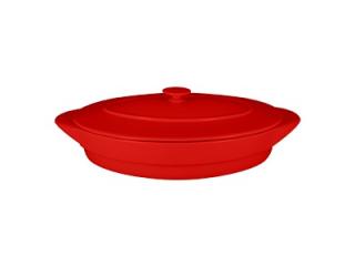 """""""Chef's Fusion"""" Tavă ovală cu capac termorezistentă, 44 cm, red, 1 buc"""