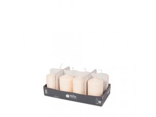 "Set lumânări - pilon ""Vanilla"" 120/60 mm, 8 buc"
